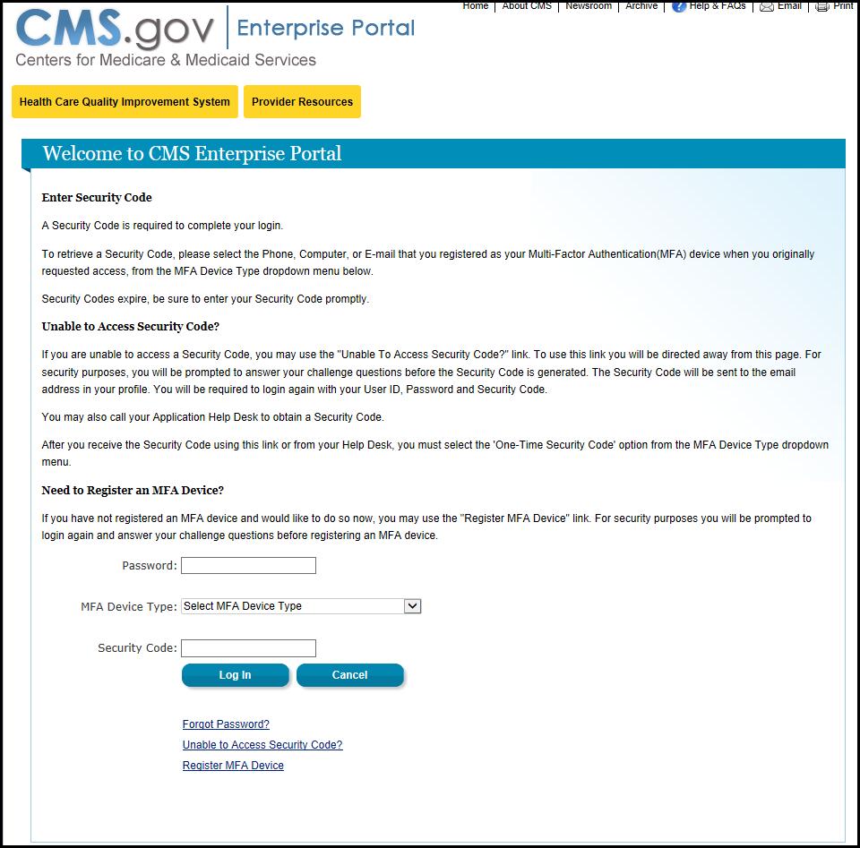 Qualitynet Portal