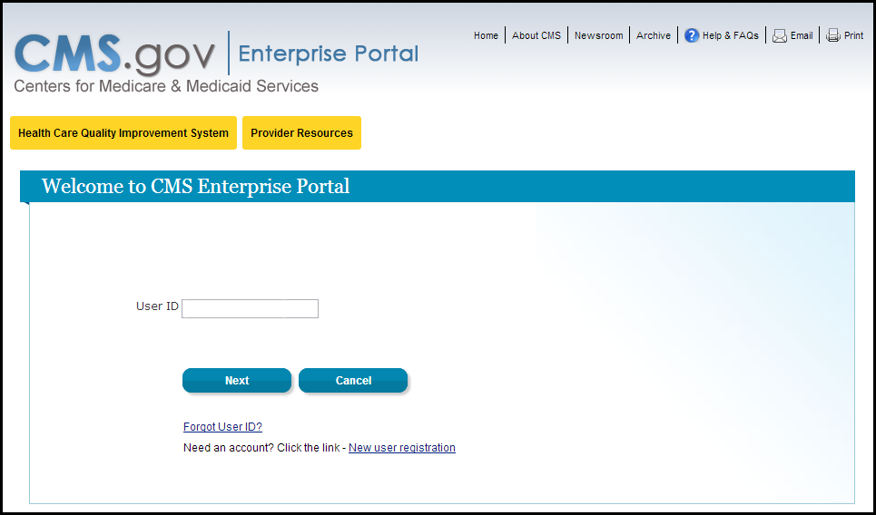 Welcome to CMS Enterprise Portal