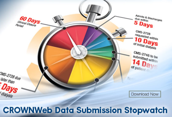 CROWNWeb Data Submission Stopwatch