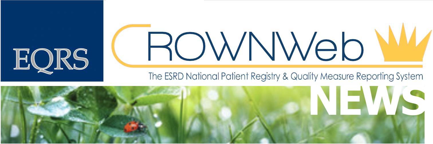 EQRS CROWNWeb News