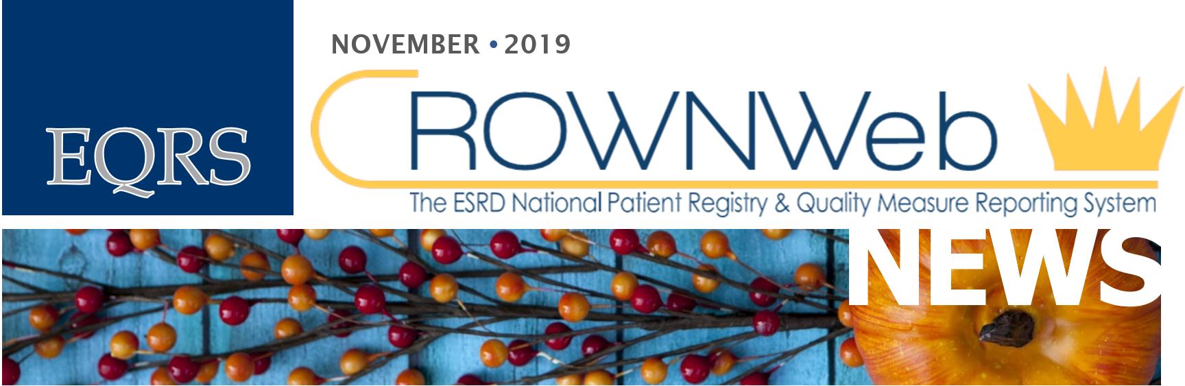 November 2019 CROWNWeb News
