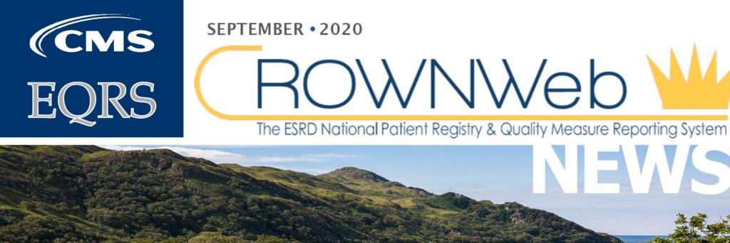 CROWNWeb Newsletter - Septmeber 2020 Banner