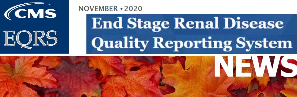 November 2020 EQRS Newsletter header